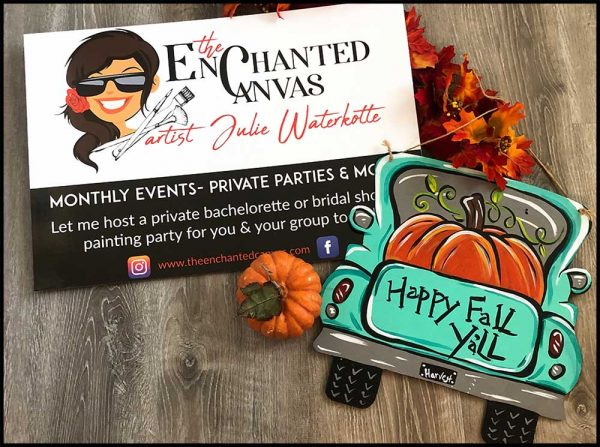 Vintage Fall Truck Fundraiser Virtual Painting Party